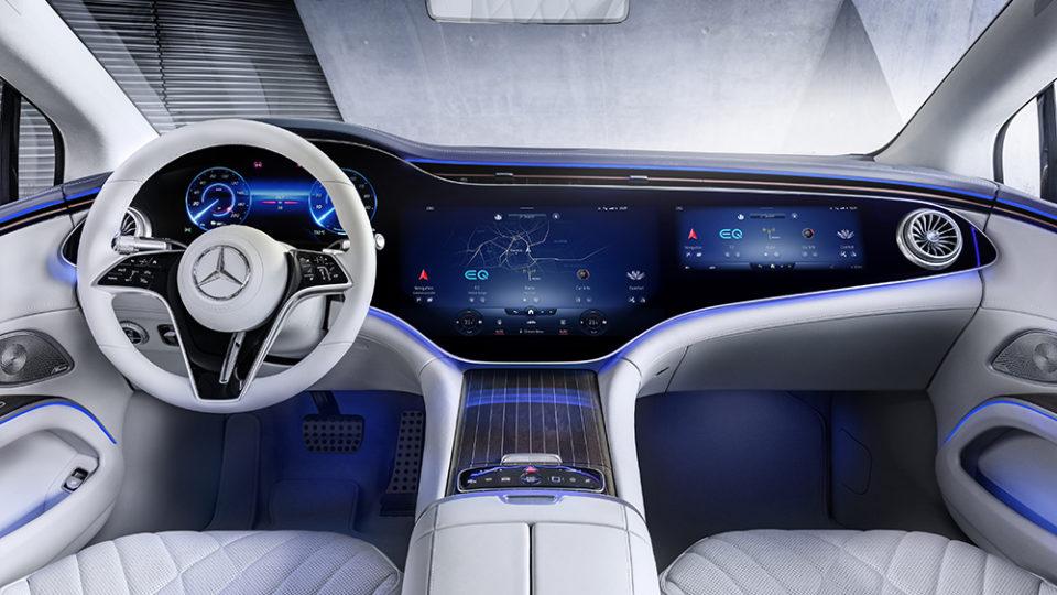 Mercedes-EQ, EQS, салон, мерседес, электрокары, фото салона, интерьер