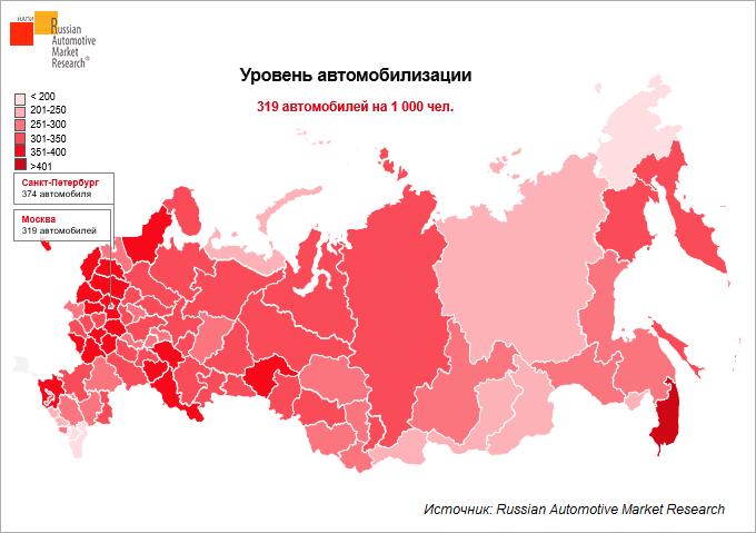 сколько машин в россии